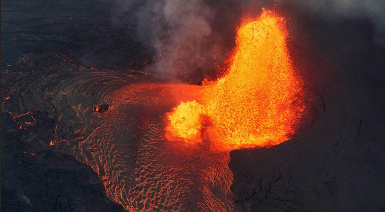 Lava fountain, Kīlauea Volcano, Big Island, Hawai`i.